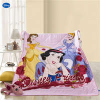Disney Princess Quilts Summer Comforters Bedding Cotton Bed Cover 3D Printed Cartoon Bedroom Decor Girls Children's Pink colored