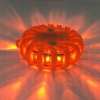 1pcs Rechargeable Flashing Warning Lights LED Road Flares Red Safety Flashlight Beacons Roadside Emergency Disc Beacon
