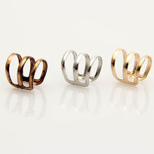 1 piece Women Punk Rock Ear Clip Joint Ring Nightclub Clavicle Ring Party Jewelry Wrap Earrings No piercing-Clip Silver Gold(China)