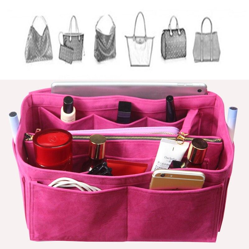 Fits Speedy 30 25 35 40 Neverfull keepall Velvet Bag Organizer Tote Purse Insert(w/Detachable Zip Pocket)Purse Insert Diaper