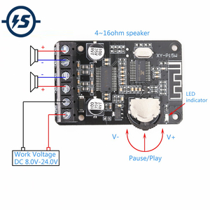 Image 1 - סטריאו Bluetooth מודול מגבר כוח ערוץ כפול לוח 12V 24V 10W 15W 20W Bluetooth מקלט מודול עבור DIY