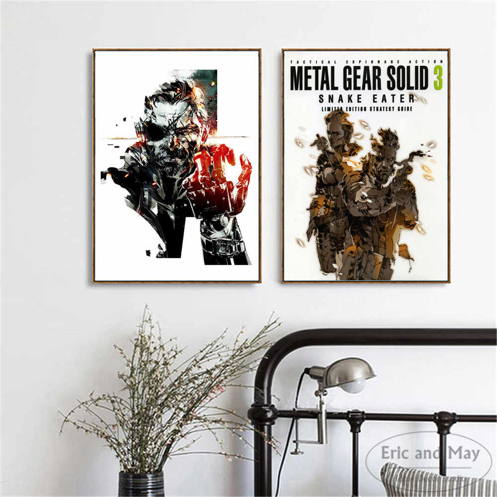 Metal Gear Solid MGS Video Game Poster And Print Canvas Art Painting Wall Pictures For Living Room Decoration Home Decor