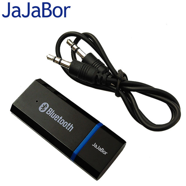 JaJaBor Portable 3.5mm AUX Dongle USB Wireless Bluetooth AUX Car Kit Music Audio Receiver Adapter with Audio Cable