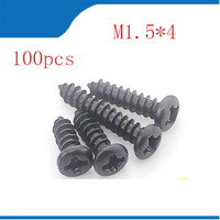 3200PCS M1.8 x 6mm Phillips Round Head Screw Self Tapping Bolt free shipping