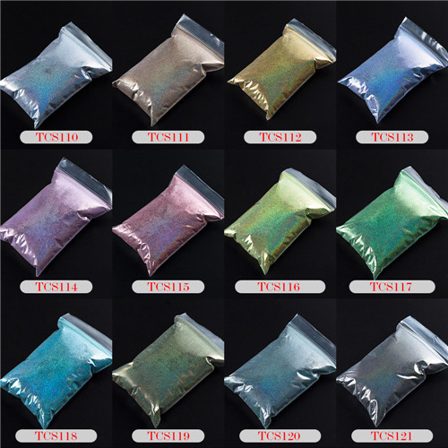 TCT-070 голографическая цветная устойчивая к растворению блестящая пудра для дизайна ногтей Гель-лак для ногтей тени для макияжа - Цвет: 12 Colors 20g each