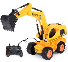 Drive by wire Truck Excavator Electric Toy Shovel Toys For Children Model Plastic Remote Controller Battery