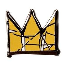 Basquiat طية صدر السترة المينا دبوس