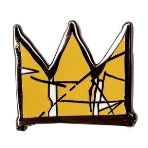 Image 1 - Pin de esmalte de solapa basquiat