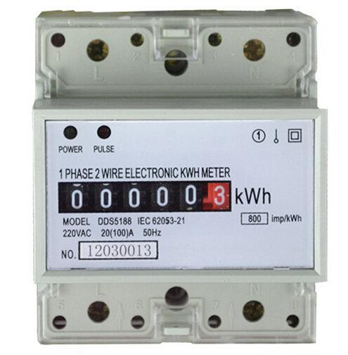 Single Phase Meter Mechanical : A din rail kwh meter v hz single phase