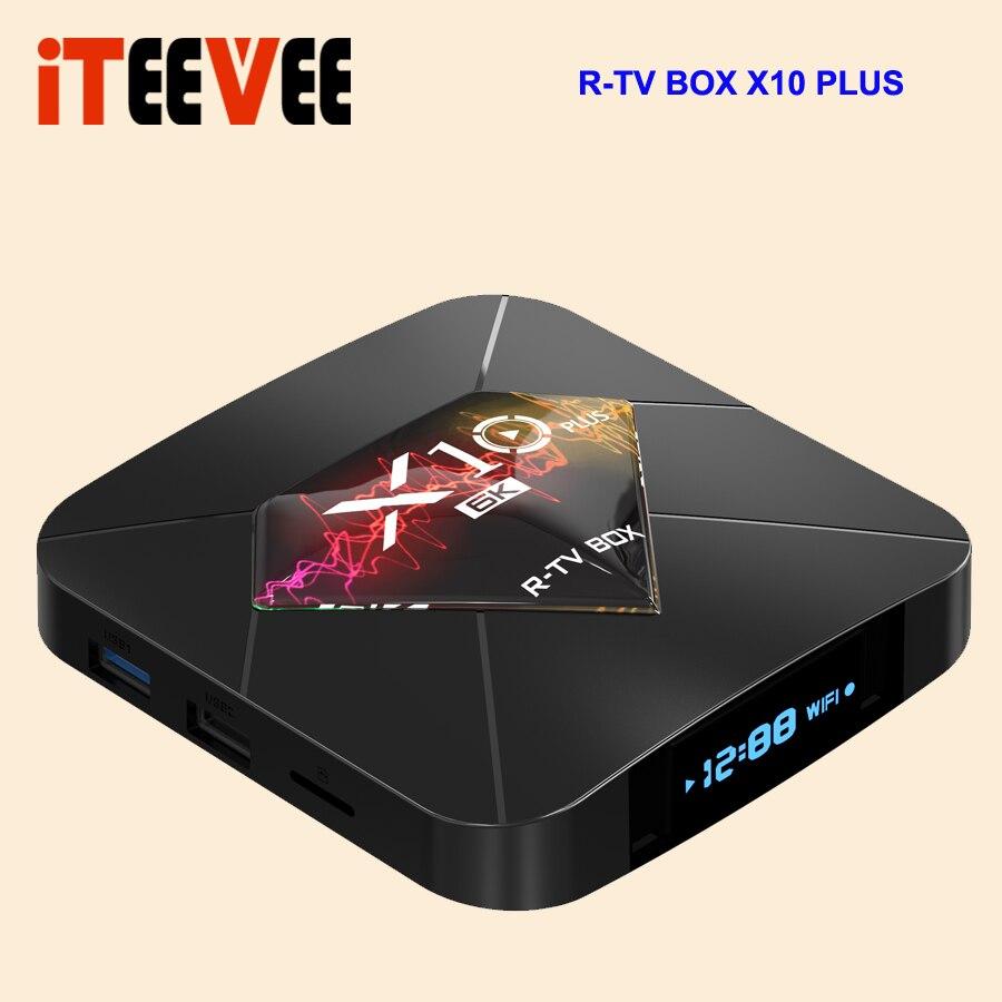 R TV BOX X10 Plus Android 9 0 smart TV Box Allwinner H6 2 4G WiFi