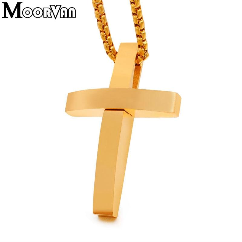 Moorvan Cute cruz colgante y collar iglesia orar crucifijo cristiano - Bisutería - foto 3