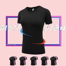 LoRun New Plus Size Yoga Women's Shirt Fitness Tights Dry Fit Female T-Shirt Running Gym Blouse Yoga Tops Polyester Sports Shirt