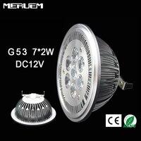 G53 es111 qr111 ar111 led 램프 14 w 스포트 라이트 따뜻한 화이트/자연 화이트/쿨 화이트 입력 dc 12 v