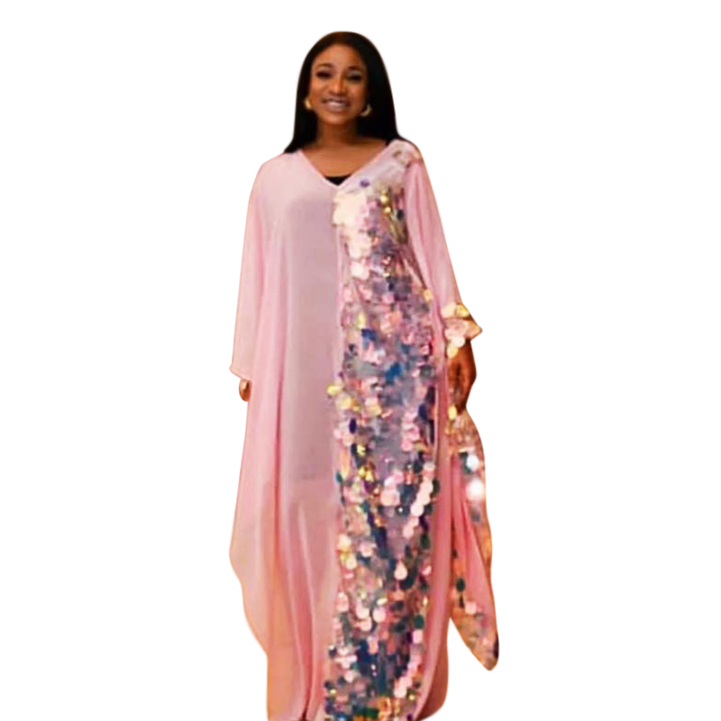 Autumn Dresses Summer 2018 African Dresses For Women African Clothing Sequined Dress Long Large Size Dresses Elegant Long Prom