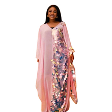 autumn dresses summer 2018 african for women clothing sequined dress long large size elegant prom