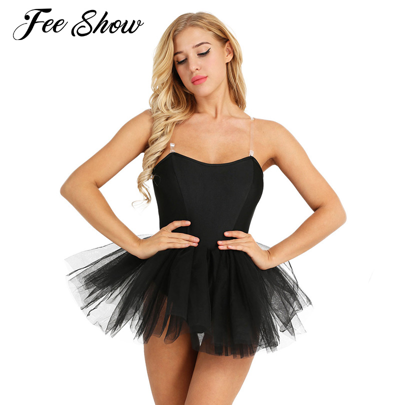 Fashion Women Adult Ballet Tutu Dress Gymnastics Leotard Strapless Ballerina Built In Shelf Bra Tutu Ballet Dance Dress Leotards