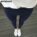 2016 New Women's Slanting Pocket Washed Jeans Leggings Pencil Pants Elastic Denim Leggings Skinny Jeans Jeggings Women Trousers