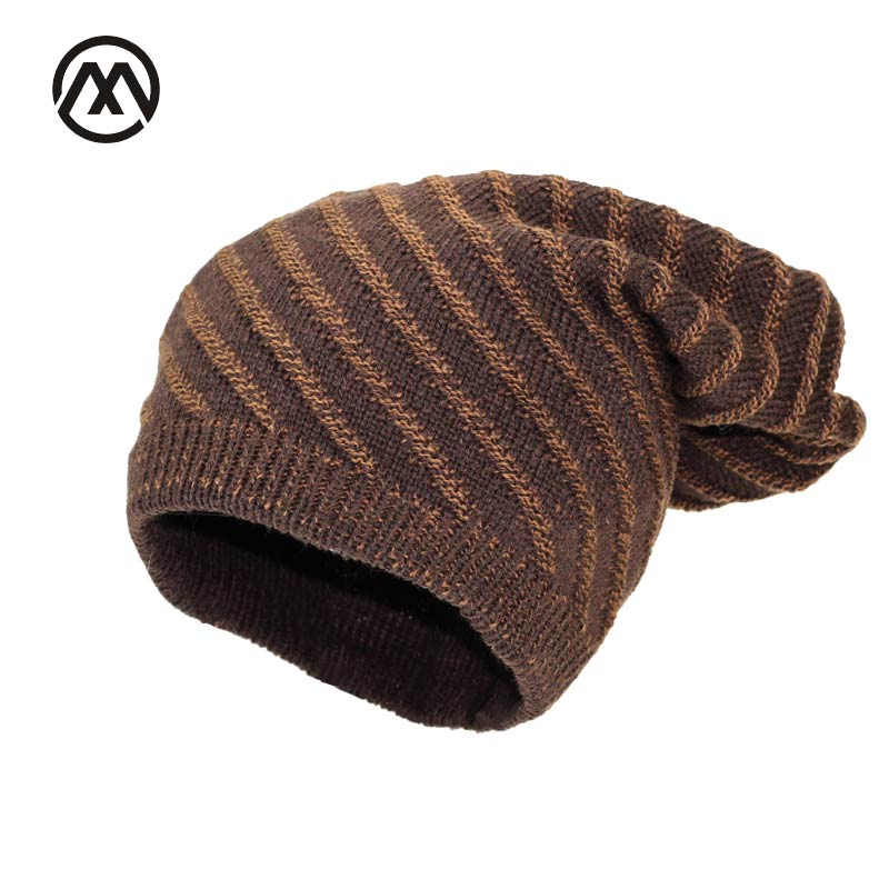 design stripes Women's Winter beanie Hat Thick warm touca inverno Men skiing protects ears Beanies knitted hat knit soft gorros