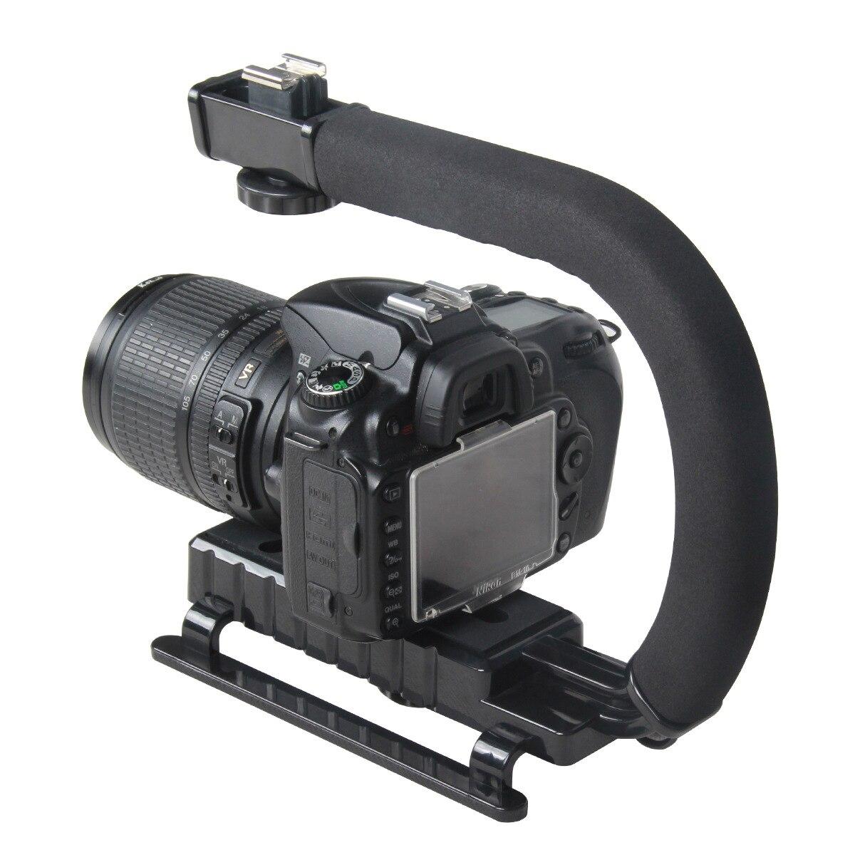 C en forma de soporte de Video de cardán estabilizador para DSLR cámara Nikon Canon Sony y Luz Portátil Steadicam