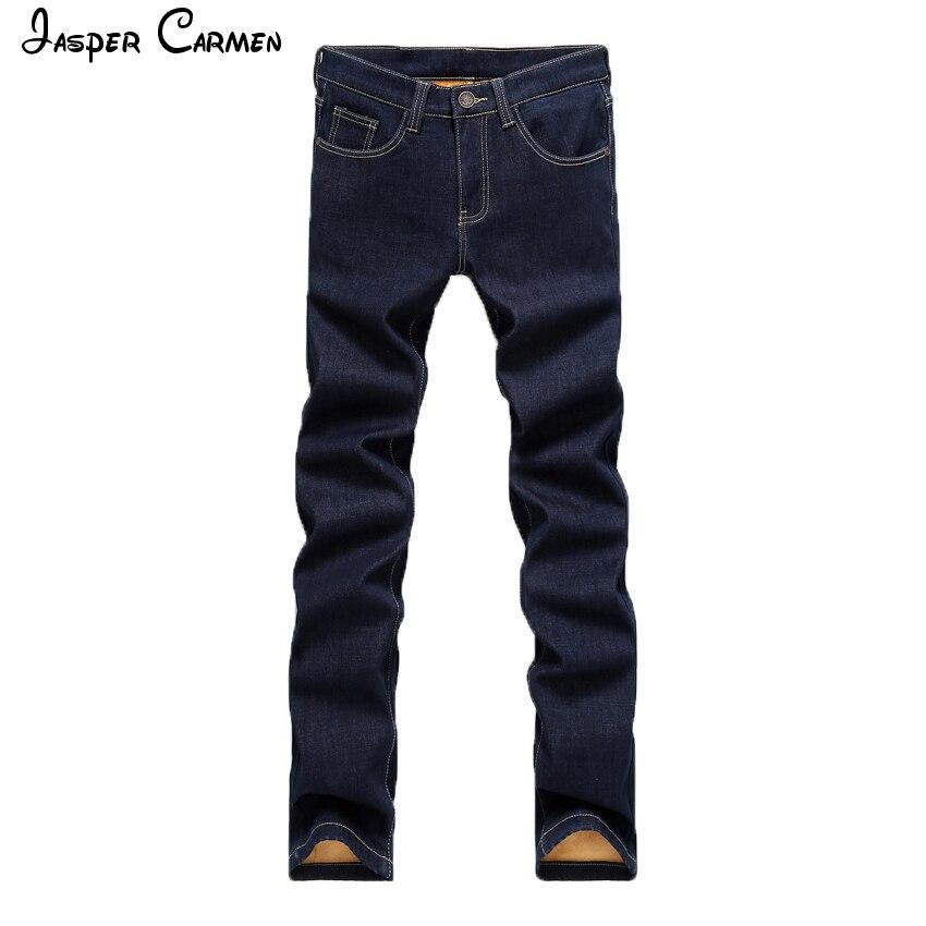 Mens Jeans 2017 New Style Men Warmer Straight Slim Large Stretch Business Casual Long Jeans Mens Jasper Carmen Brand Pants 59