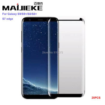 20PCS Phone Screen Protector Film for Samsung Galaxy S8 S9 Plus Note 8 3D Full Glue Adhensive Tempered Glass DHL