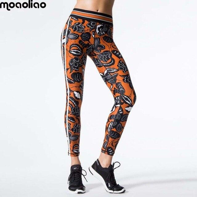 Impression sport leggings 2017 nouvelles femmes floral yoga pantalon  femelle impression technologie de compression gym courir 972573929a9