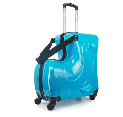 Riding Suitcase Children Trolley Suitcase Children Travel Spinner Suitcase Carry On Wheeled Luggage Case Rolling Truck For Kids