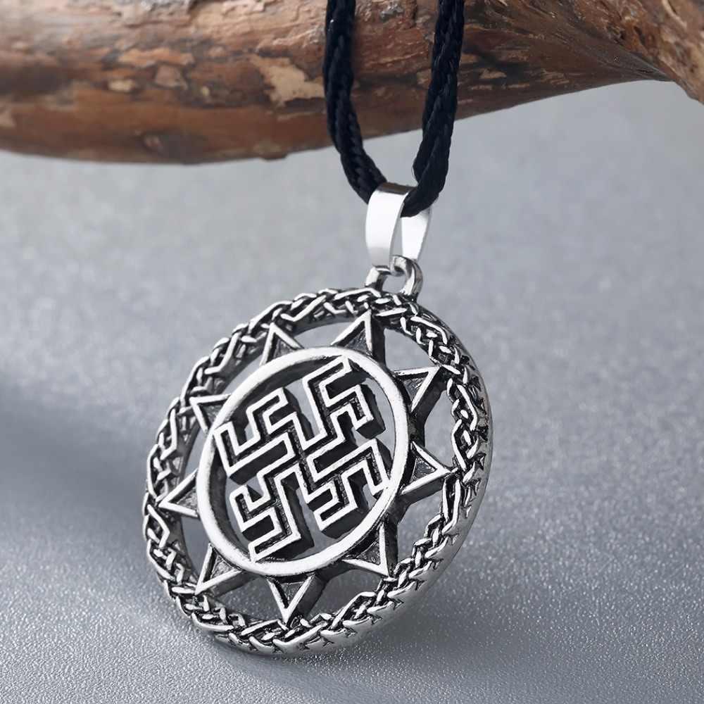 CHENGXUN Dukhobor amulette slave fort protecteur pendentif de guérison antique slave symbole Talisman pendentif bijoux hommes collier