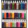 12 Garrafa/Set Prego Brilhante Glitter Hot Beads Prego Decoração Arte
