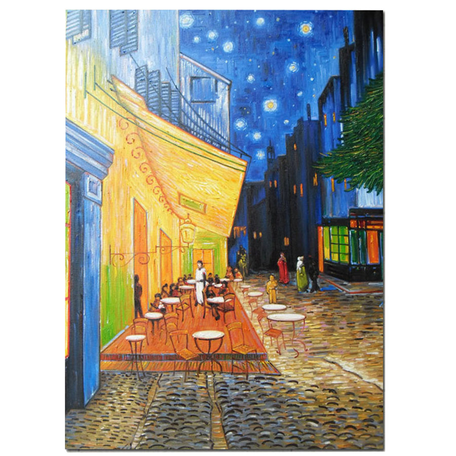 Cafe Terrace at Night Vincent van Gogh Reproduction painting Hand Painted oil painting on canvas For