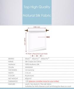 Image 2 - Tela DE seda suave para manualidades y bodas, crepé DE CHINE 100% DE 114cm DE ancho, 14momme, 1 metro, 31 60