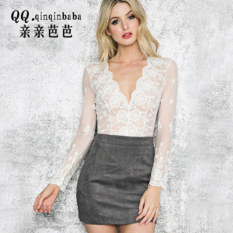New fashion Women Leather skirt high waist party clothing female short pencil