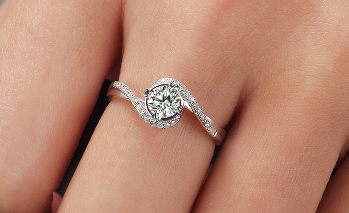 YINHED Elegant Solitaire Ring Genuine 925 Sterling Silver Wedding - Fashion Jewelry - Photo 6