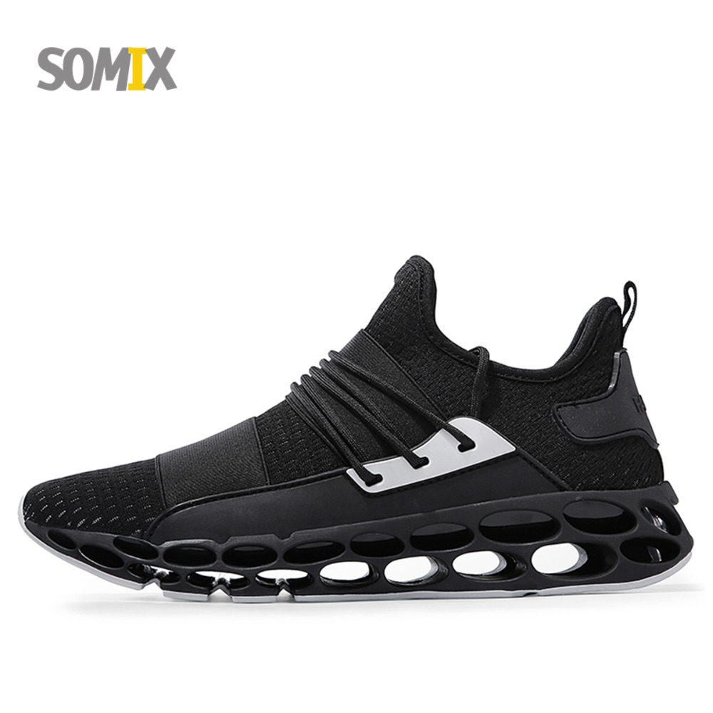 Somix Men's Light Running Shoes Trainers Breathable Mesh Athletics Shoes Comfortable Men Sneakers Cushioning Outdoor Sport Shoes kelme 2016 new children sport running shoes football boots synthetic leather broken nail kids skid wearable shoes breathable 49