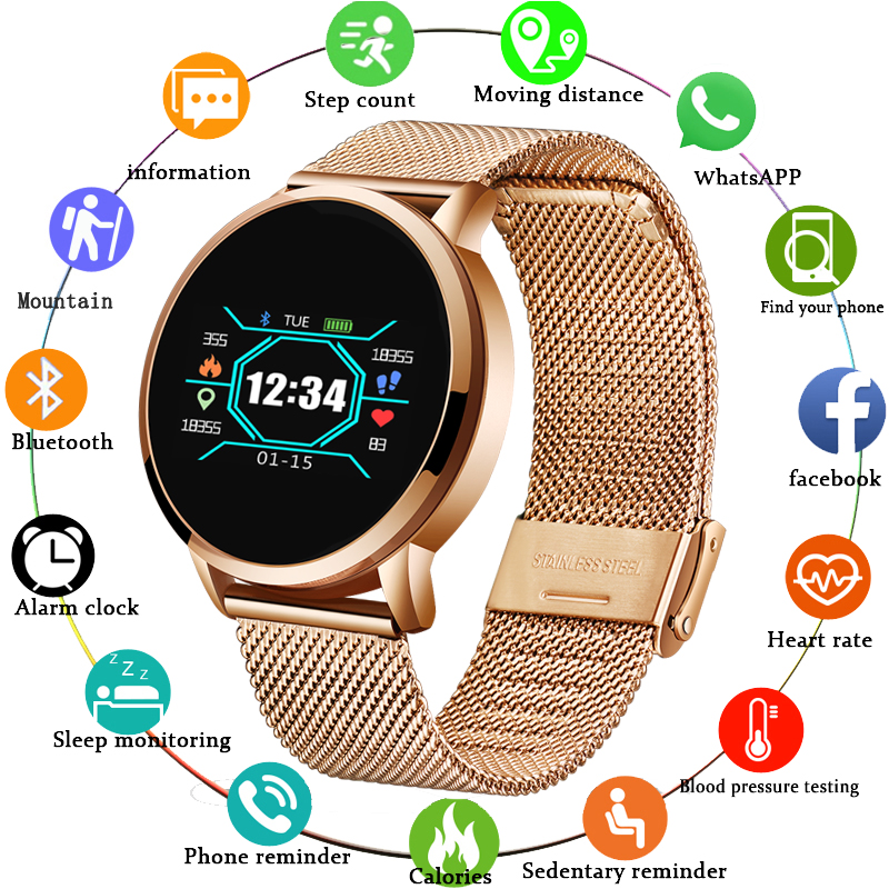 Permalink to BANGWEI 2019 New ECG PPG smart watch Men with electrocardiogram display heart rate blood pressure smart Band Fitness Tracker+Box