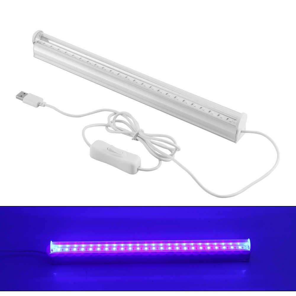6 w Dimmable UV 24LED שחור אור גופי נייד שחור אור מנורת UV פוסטר UV אמנות Blacklight מנורת עבור DJ מסיבת חגים