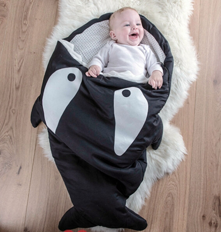 warm-cotton-kids-shark-sleeping-bag-Newborns-sleeping-bag-Winter-Strollers-Bed-Swaddle-Blanket-Wrap-cute-Bedding-baby-sleeping-1