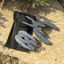 Multifunction Folding Steel Plier Foldaway Portable Knife Keychain Screwdriver Camping Survival EDC Outdoor Tools Travel Kits