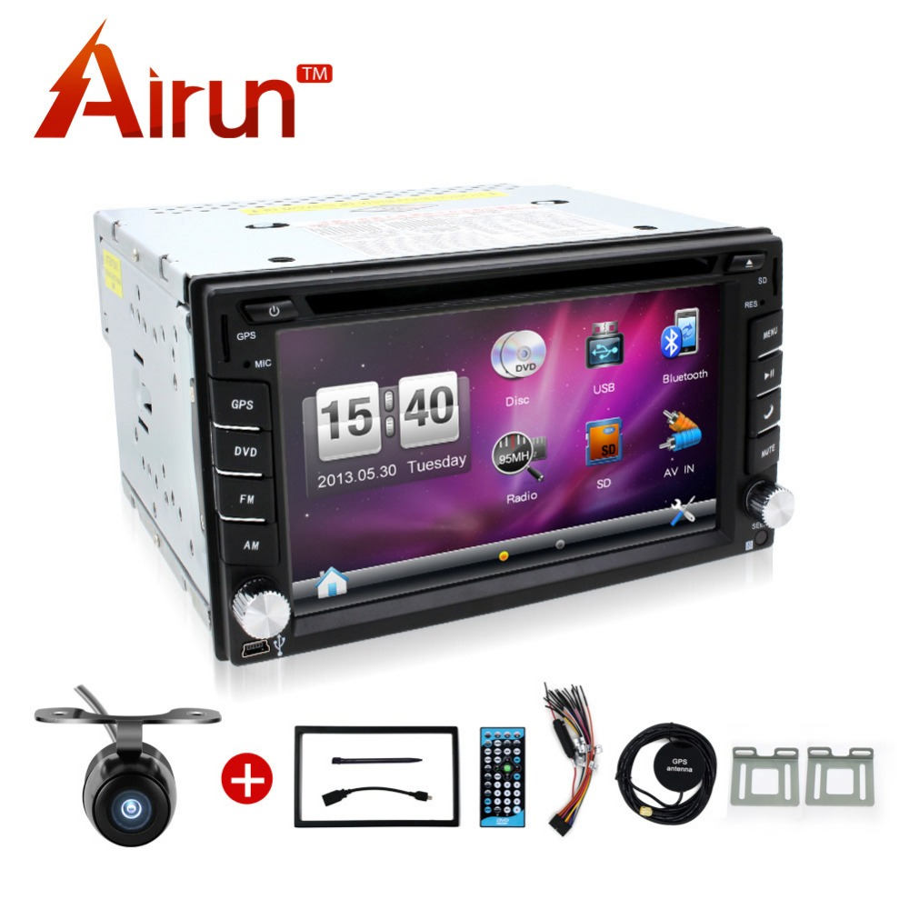 2 din dvd car audio navigation system double radio stereo in dash mp3 head unit cd