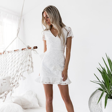 c4b672aa3c71b Buy short lace white dress and get free shipping on AliExpress.com