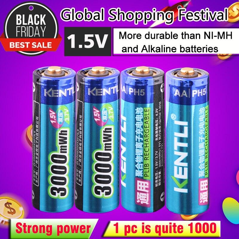 4 teile/los Stabile spannung 3000mWh AA batterien 1,5 v akku lithium-polymer-batterie für kamera ect