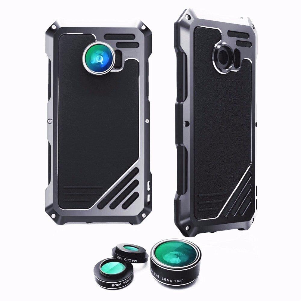 imágenes para Para Samsung Galaxy Caso s7 con lente HD de Metal A Prueba de agua A Prueba de Polvo Anti-golpe Cubierta Para la galaxia s7 Borde caso