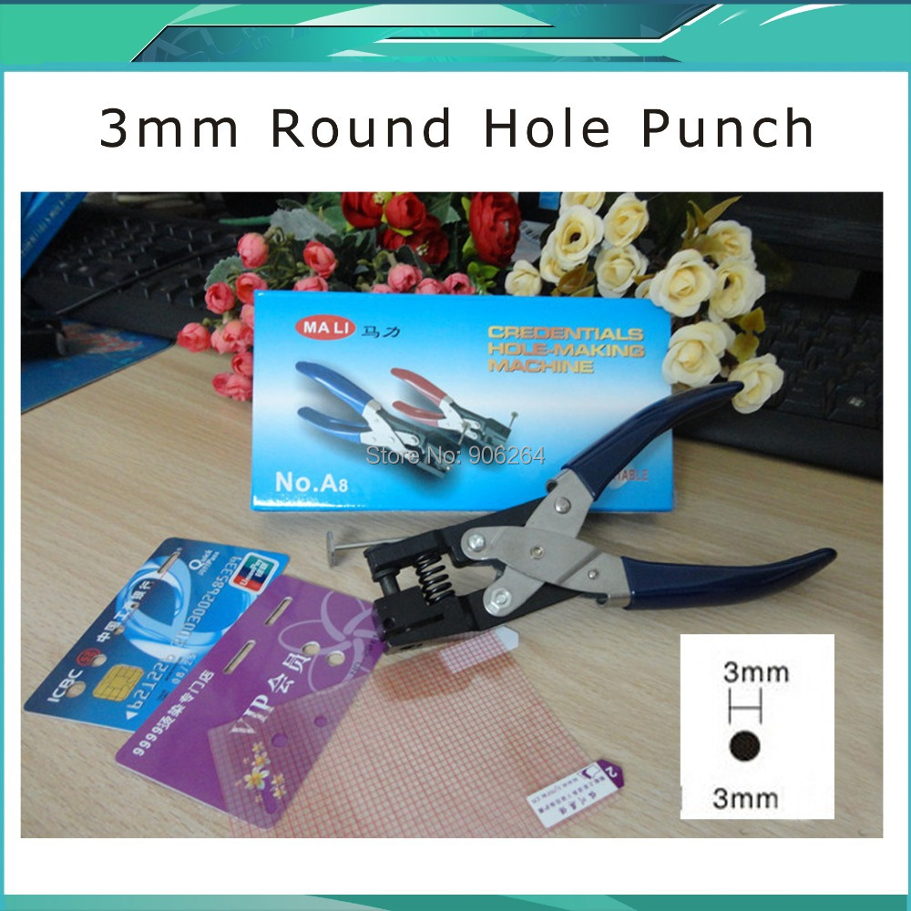 3MM New Rushed Free Shipping Manual Punches Paper Puncher Round Hole Plier Punch PVC Badge Punching Machine  цены