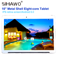 10 Inche Tablet PC 10 HD IPS Screen Eight Core 4G Communication WIFI Internet Bluetooth Metal Shell Android 6.0 1900*1200 32GB