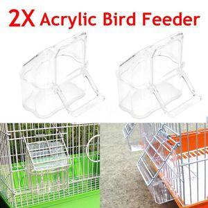 2pcs Plastic Canary Finches Bi
