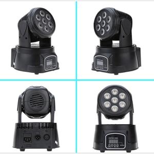 Image 4 - RGBW moving head strahl licht 7*10 watt disco musik steuerung lampe DMX dj par ausrüstung party lichter