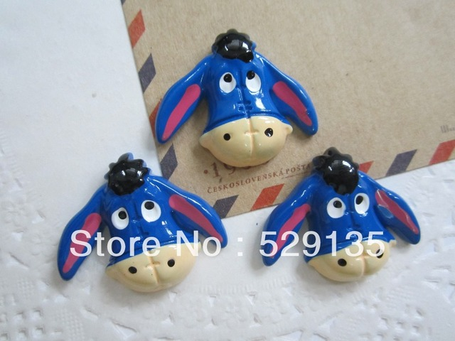 Free Shipping! Resin Adorable Donkey, Resin Flatback Cabochons for Phone Deco, Hair Bow Center, DIY (33*28mm)
