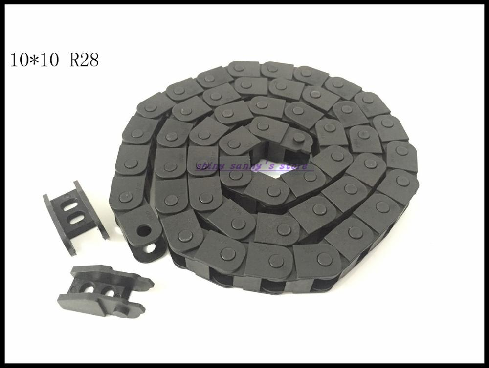 3pcs/lot 10x10mm R28 Cable Drag Chain Wire Carrier with End Connector 10mm x10mm L1000mm 40 for 3D CNC Router Machine Brand New 15mm x 40mm r28 plastic cable drag chain wire carrier with end connector length 1m for 3d printer cnc router machine tools