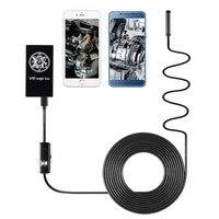HD 720P 5 5MM 8MM 6 LED Hard Wire Waterproof WiFi Magic Endoscope Borescope Inspection Camera
