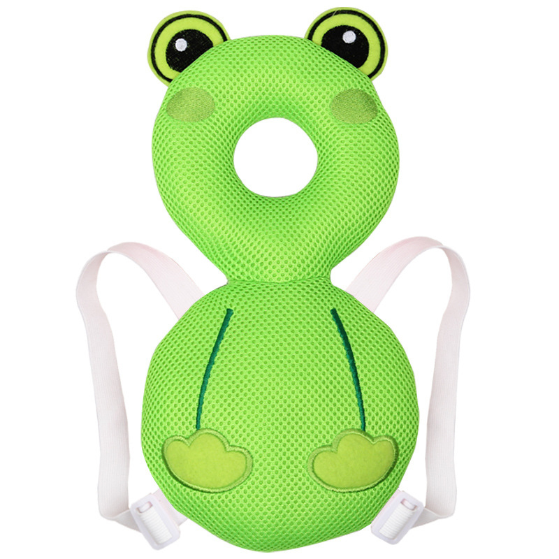 Baby Pillows Car Mesh Headrest Baby Infant Car Travel Sleeping Frog Owl Chick Pillow Head Neck Cartoon Seat Covers For Child